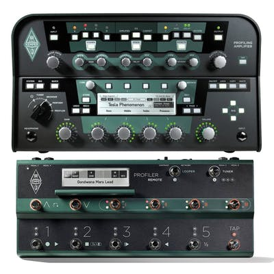 Kemper Profiling Amp PowerHead in Black With Remote Footswitch
