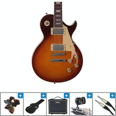 Eastcoast GL20 Tobacco Sunburst Electric Guitar Bundle with Amp and Accessories