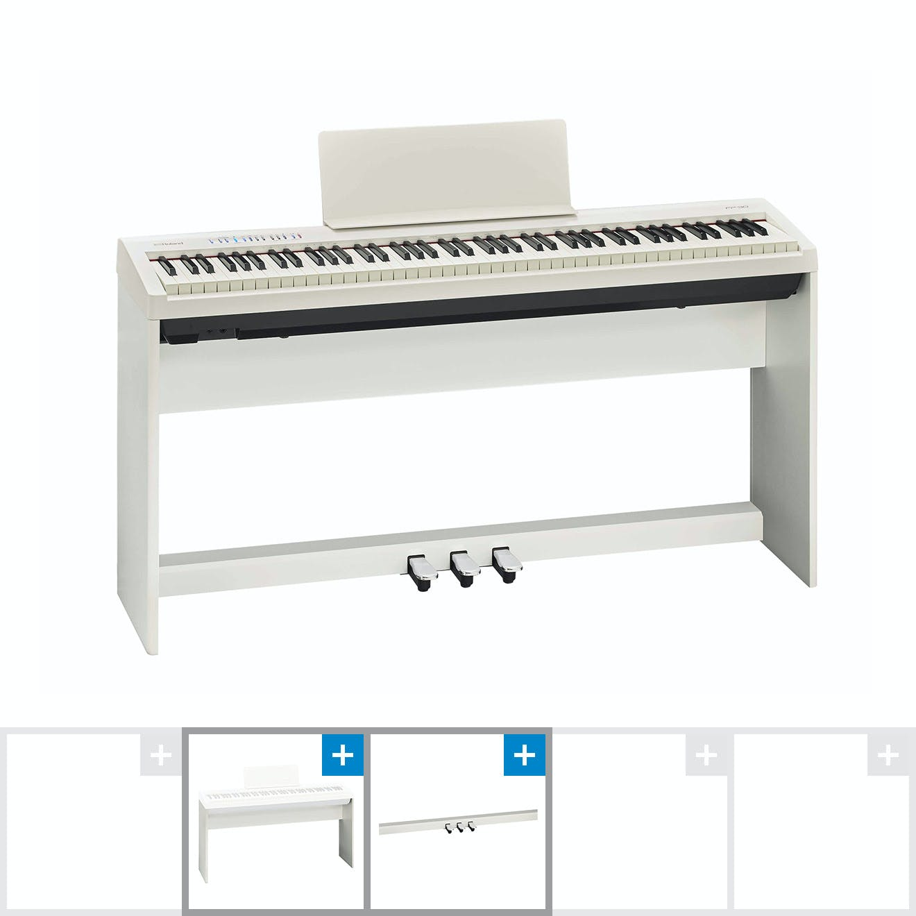 Roland Fp30 Digital Home Piano Bundle In Matte White