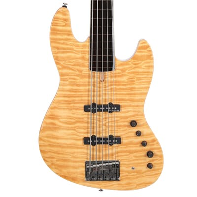 Sire Version 2 Fretless Marcus Miller V9 Swamp Ash 5 String Bass in Natural