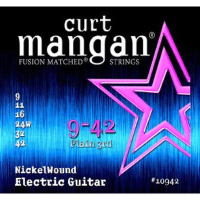 Curt Mangan Strings 9-42 Nickel Wound Electric Guitar Strings