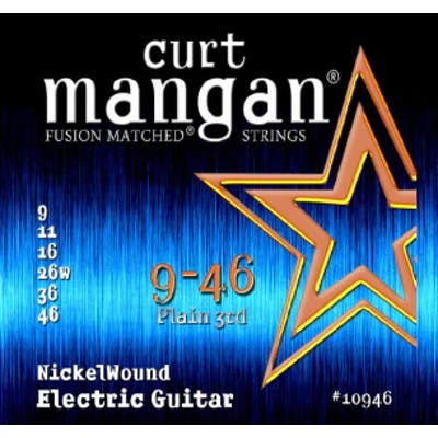 Curt Mangan Strings 9-46 Nickel Wound Electric Guitar Strings