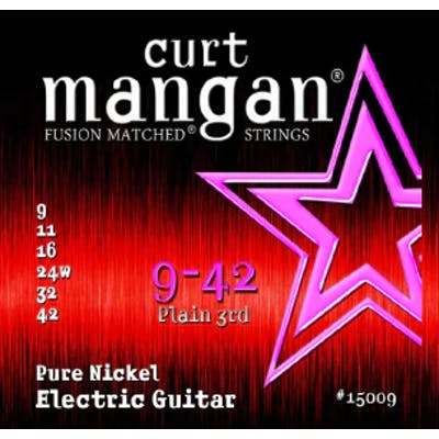 Curt Mangan Strings 9-42 Pure Nickel Wound Set Electric Guitar Strings