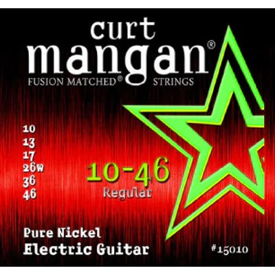 Curt Mangan Strings 10-46 Pure Nickel Wound Set Electric Guitar Strings