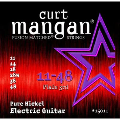 Curt Mangan Strings 11-48 Pure Nickel Wound Set Electric Guitar Strings