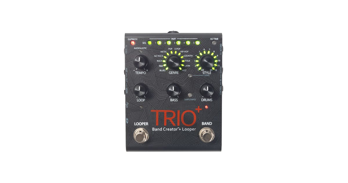 digitech trio advanced band creator and looper pedal andertons music co. Black Bedroom Furniture Sets. Home Design Ideas