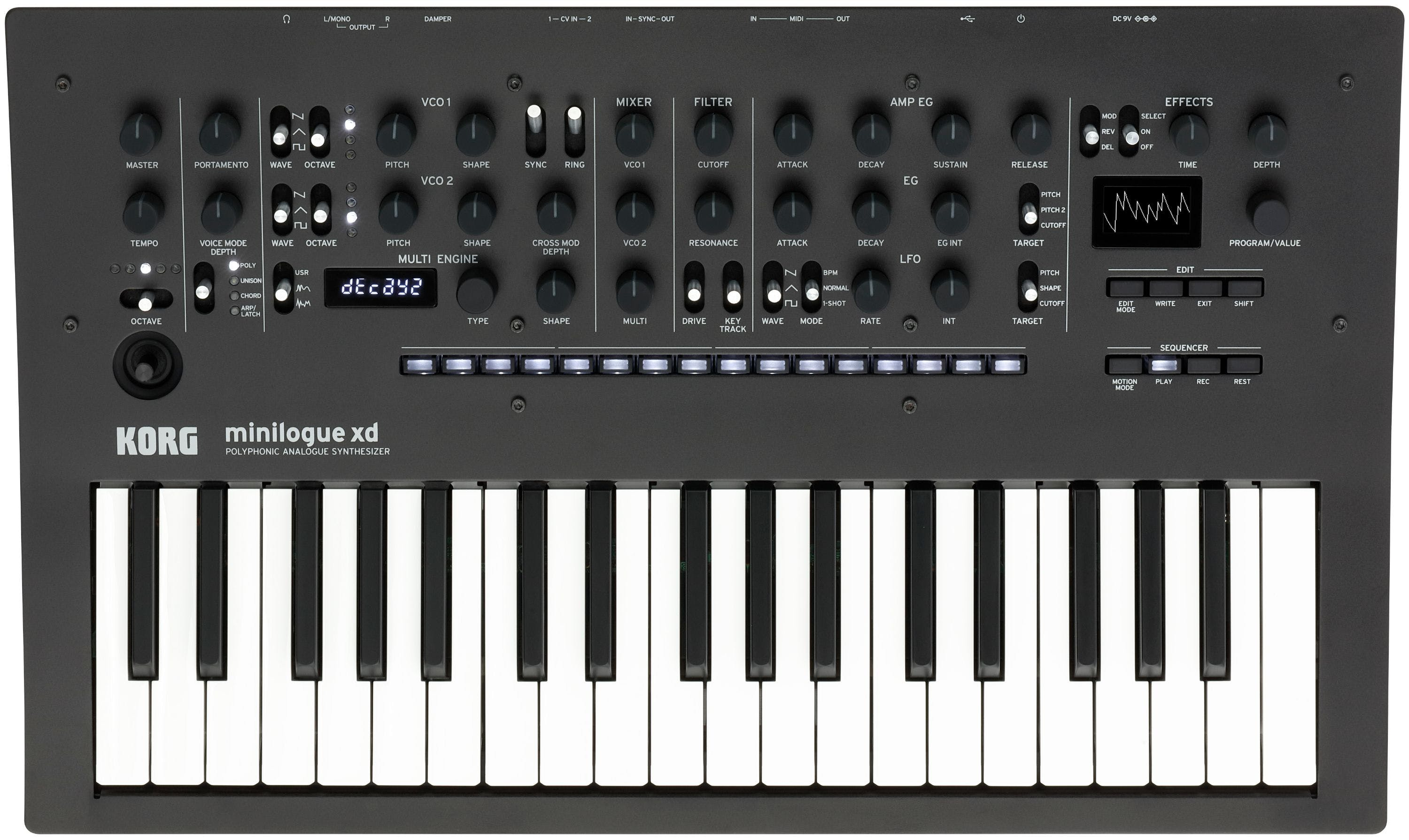 Korg Minilogue XD Polyphonic Analog Synthesizer with Multi-engine, Digital  Effects and Step Sequencer - Andertons Music Co