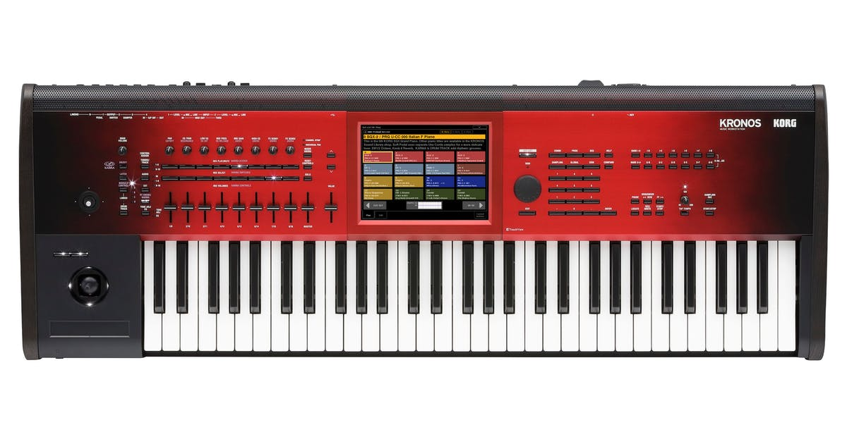 Korg Kronos 2 SE 61-Key Synthesizer & Workstation in Red Graduation Finish  - Andertons Music Co