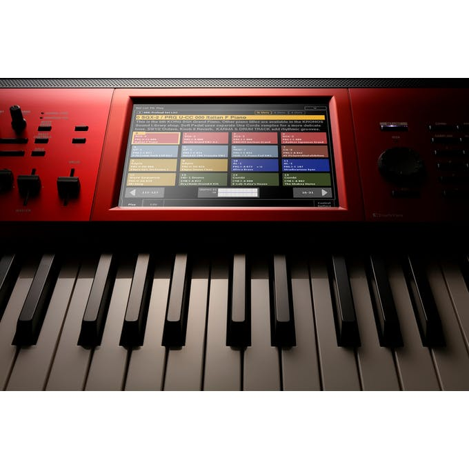 Korg Kronos 2 SE 61-Key Synthesizer & Workstation in Red Graduation Finish  - Andertons Music Co
