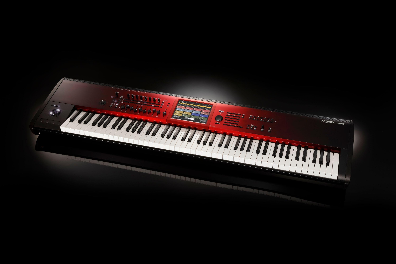 Korg Kronos 2 SE 73-Key Synthesizer & Workstation in Red Graduation Finish  - Andertons Music Co