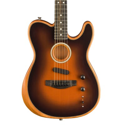Fender Acoustasonic Tele Acoustic/Electric Guitar in Sunburst