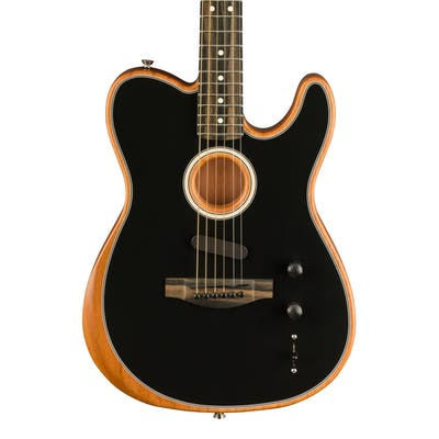 Fender Acoustasonic Tele Acoustic/Electric Guitar in Black