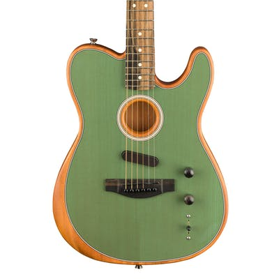 Fender Acoustasonic Tele Acoustic/Electric Guitar in Surf Green