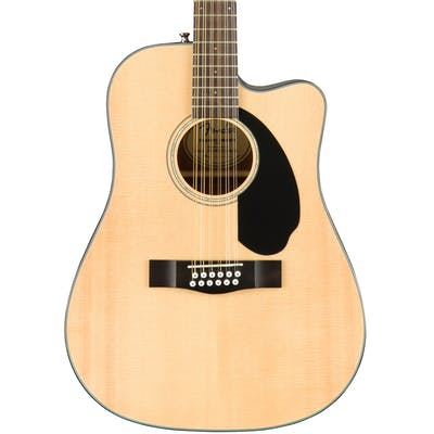 Fender CD60SCE Cutaway Electro Acoustic 12-String Guitar in Natural