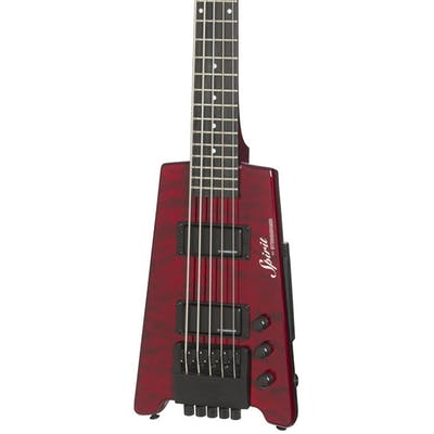 Steinberger Spirit XT-25 Quilt Top Standard 5-string Bass Outfit in Trans Wine Red