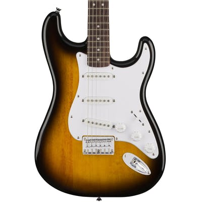 Squier Bullet Strat Hardtail in Brown Sunburst with Laurel Fingerboard