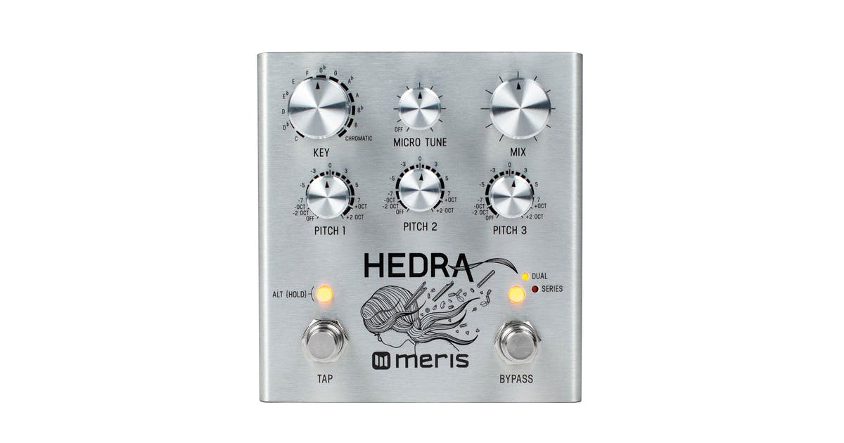 meris hedra 3 voice rhythmic pitch shifter delay pedal andertons music co. Black Bedroom Furniture Sets. Home Design Ideas