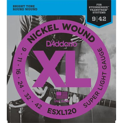 D'Addario ESXL120 Double Ball End Nickel 9-42