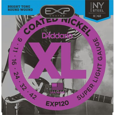D'addario EXP120 09-42 Coated Regular Light Electric Strings