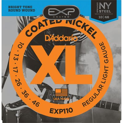 D'Addario EXP110 10-46 Coated Regular Light Electric Guitar Strings