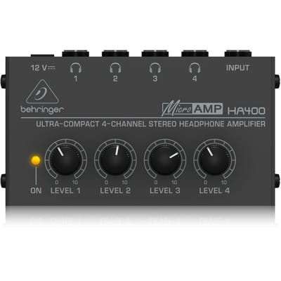 Behringer HA400 Compact 4-Channel Stereo Headphone Amp