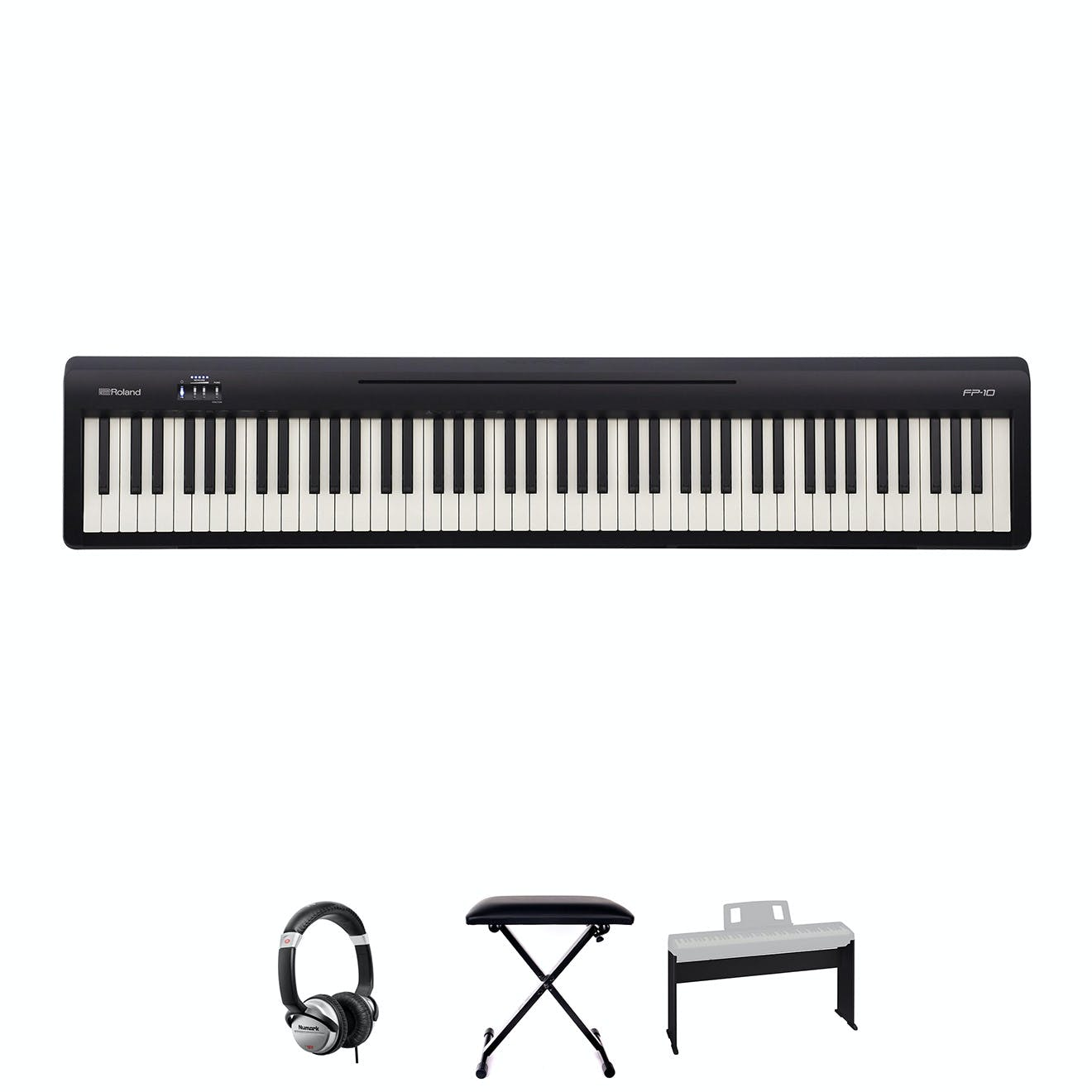 Roland FP10 Piano Bundle With Wooden Frame, Headphones and Bench -  Andertons Music Co