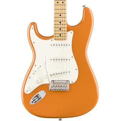 Fender Player Stratocaster w Maple Fretboard in Capri Orange Left Handed