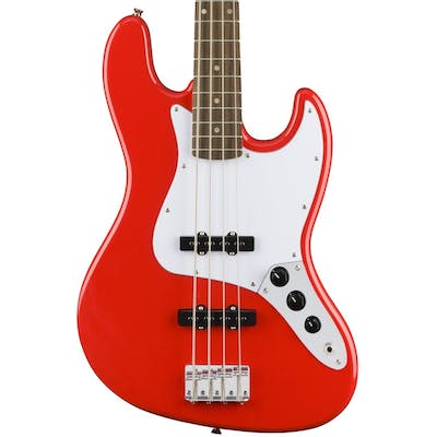 Squier Affinity Jazz Bass in Racing Red with Laurel Fingerboard