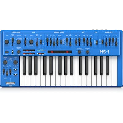 Behringer MS-1-BU Analog Synthesizer in Blue