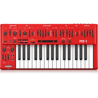 Behringer MS-1-RD Analog Synthesizer in Red