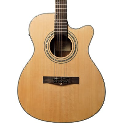 EastCoast G1SCE Solid-Top Grand Auditorium Acoustic Guitar With Cutaway & Built-in Electronics
