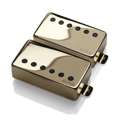 EMG Pickups JH HET Set James Hetfield Signature Set Long Shaft Pots in Gold