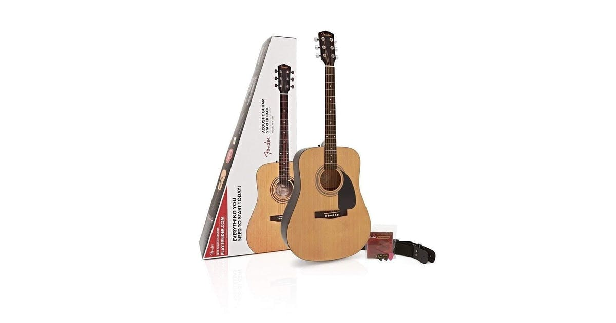 Fender Fa 115 Dreadnought Pack In Natural Finish Andertons Music Co