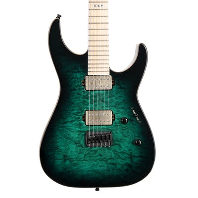 ESP E-II MII in Black Turquoise Burst
