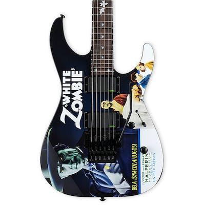 ESP LTD KH-WZ Kirk Hammett Signature in White Zombie Graphic