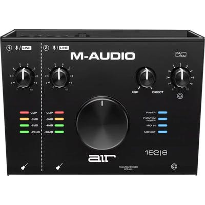 M-Audio AIR 192 6 - 2-In/2-Out 24/192 USB Audio/MIDI Interface