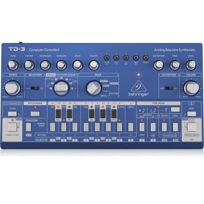 Behringer TD-3 Analogue Bass Line Synth in Blue