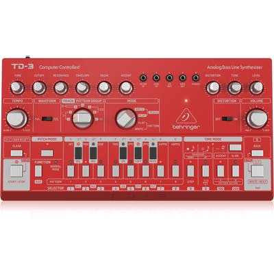 Behringer TD-3 Analogue Bass Line Synth in Red