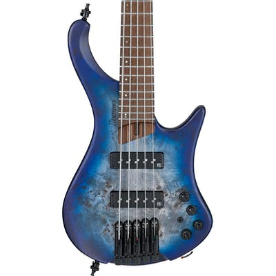 Ibanez EHB1505 5-String Headless Bass Guitar in Pacific Blue Burst Flat