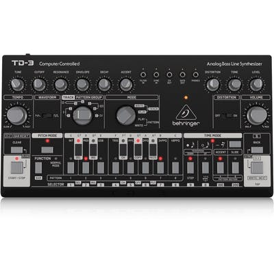 Behringer TD-3-BK Analogue Bass Line Synthesizer in Black