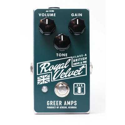 Greer Amps Royal Velvet Class-A British Overdrive & Preamp Pedal
