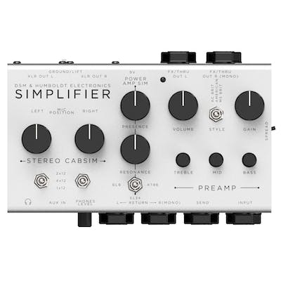 DSM & Humboldt Simplifier Preamp and Cab Sim Analogue Stereo Pedal