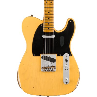 Fender Custom Shop 70th Anniversary Broadcaster Limited Edition Relic Finish in Faded Nocaster Blonde
