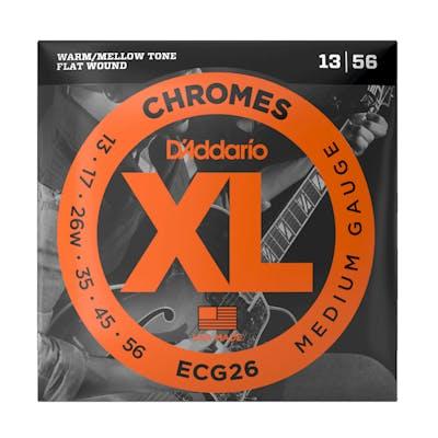 D'addario Chromes ECG26 13-56 Medium Flatwound Strings