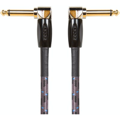 Boss BIC-1AA 1ft/30cm Instrument Cable, Angled/Angled