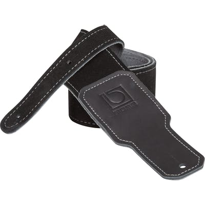Boss 2.5 inch black suede guitar strap