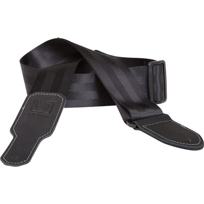 Boss 2 inch black seatbelt guitar strap