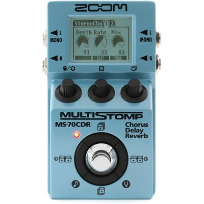 Zoom MS70CDR MultiStomp Chorus, Delay and Reverb pedal