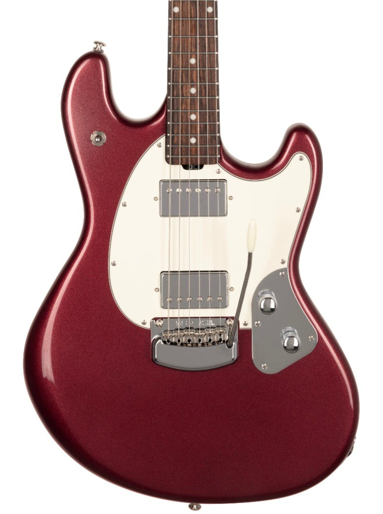 Music Man Stingray Rs Electric Guitar In Maroon Mist Andertons Music Co