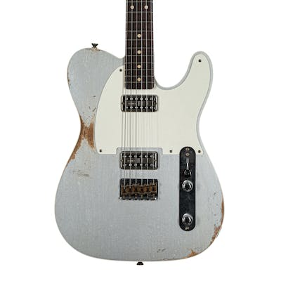 Fender Custom Shop '52 Tele Double TV Jones in Silver Heavy Relic